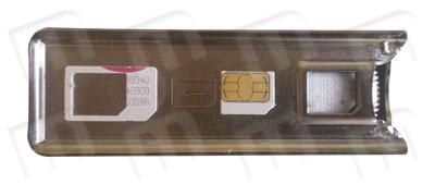 En la siguiente imagen podemos apreciar el resultado final, tanto la microSIM ya cortada, como el resto de plástico sobrante. Ya puede tiene lista una microSIM estándar tras seguir estos sencillos pasos y todo en cuestión de segundos! Ahora ya puede disfrutar de su operador preferido en su iPad o nuevo iPhone 4!