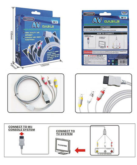 Conection Schematics for the Nintendo Wii AV Cable
