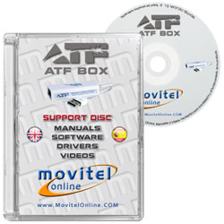 Advance Turbo Flasher [ATF Box] CD or DVD disk covercase with software, drivers, manuals and videos