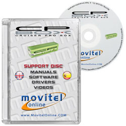 Cruiser Pro Box CD or DVD disk covercase with software, drivers, manuals and videos
