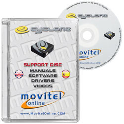 Cartula Disco Cyclone Box CD o DVD con software, drivers, manuales y videos