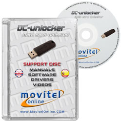 Carátula Disco DC Unlocker Dongle USB CD o DVD con software drivers manuales y videos