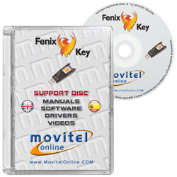Carátula Disco FENIX KEY Box CD o DVD con software, drivers, manuales y videos