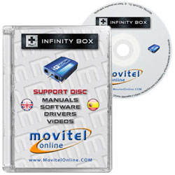 Cartula Disco Infinity Box CD o DVD con software, drivers, manuales y videos