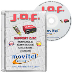 Cartula Disco Jaf Box Pkey CD o DVD con software, drivers, manuales y videos