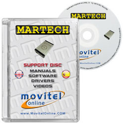 Martech Box CD or DVD disk covercase with software, drivers, manuals and videos