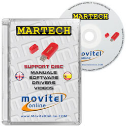 Martech Key CD or DVD disk covercase with software, drivers, manuals and videos