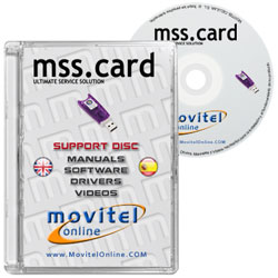 MSS Card Key Box CD or DVD disk covercase with software, drivers, manuals and videos