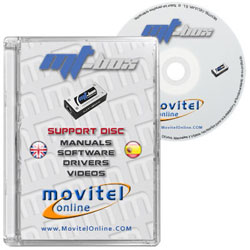 Mt-Box CD or DVD disk covercase with software, drivers, manuals and videos