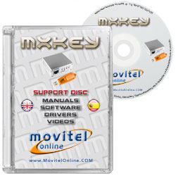 Cartula Disco MX Key CD o DVD con software, drivers, manuales y videos