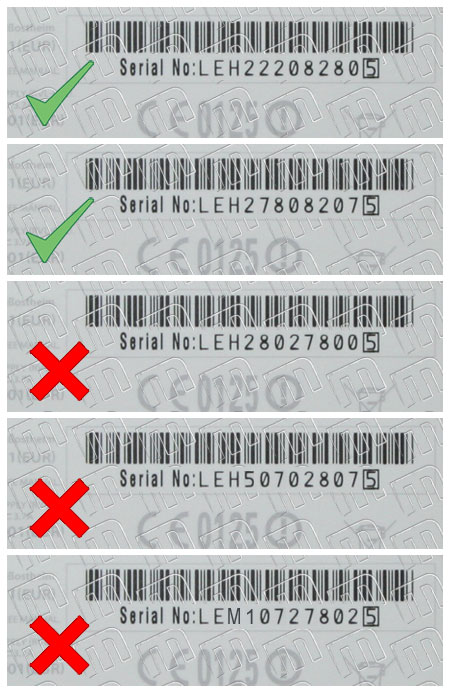 Nintendo Wii Serial Numbers schema about modchips compatibility