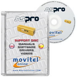 NS Pro Box CD or DVD disk covercase with software, drivers, manuals and videos