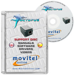 Octopus Box CD or DVD disk covercase with software, drivers, manuals and videos