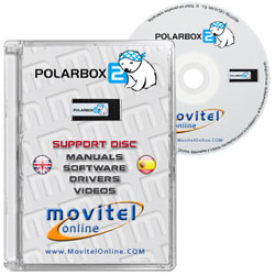 Polar Box 3 CD or DVD disk covercase with software, drivers, manuals and videos