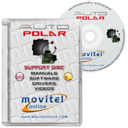 Polar Fis+ CD or DVD disk covercase with software, drivers, manuals and videos