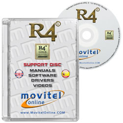 R4 SDHC Gold Pro 2017 CD or DVD disk covercase with software, drivers, manuals and videos