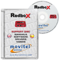 Redbox 2 + CD or DVD disk covercase with software, drivers, manuals and videos