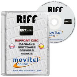 Carátula Disco RIFF JTAG Box CD o DVD con software, drivers, resurrectors, manuales y videos