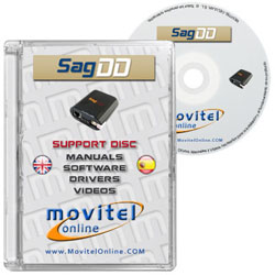 SagDD Box CD or DVD disk covercase with software, drivers, manuals and videos