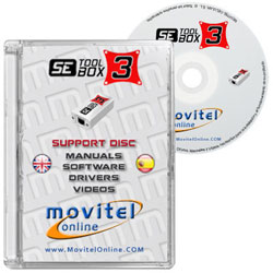 Setool 3 Box CD or DVD disk covercase with software, drivers, manuals and videos