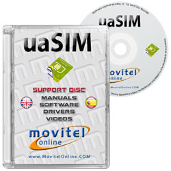 uaSIM Test and Activation Card for iPhone and iPad CD or DVD cover with software drivers manuals and videos