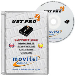 Carátula UST Pro 2 Box CD o DVD con software, drivers, manuales y videos