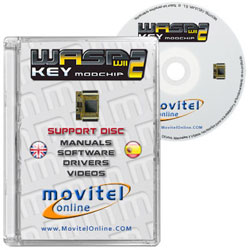 WASPKEY CD or DVD disk covercase with software, drivers, manuals and videos
