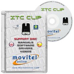 Carátula Disco XTC CLIP Box CD o DVD con software, drivers, manuales y videos
