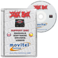 Car�tula Z3X Box CD o DVD con software, drivers, manuales y videos