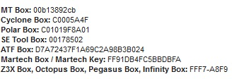 Ejemplos de N�meros de Serie de Boxes Unlock