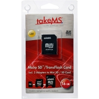 Tarjeta de Memoria MicroSDHC 16GB [Clase 4] con Adaptador SD + miniSD - 