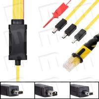 Cable Nokia DCT4+ Easy Flash 3 en 1 (v1, v2 y v3) con Pinza VBAT 8pines (BX Series) - Cable especial para teléfonos de Nokia con conectores de tipo Easy Flash v1, v2 y v3. Su uso está indicado para liberación, flasheo, reparación, reseteo y lectura de códigos de usuario y seguridad, cambio de lenguaje, etc...