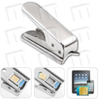 microSIM Cutter for iPhone 4 / 4S / iPad 3G / 4G / Galaxy S3 i9300 - Cut accurately and safely a normal SIM card to the new microSIM format for iPhone 4, iPhone 4S, iPad 3G, iPad 2 3G, New iPad 4G or Samsung Galaxy S3 i9300. Valid for any cell phone, USB modem or device, even if your carrier does not have available specific data plans for iPads, iPhone 4 / 4S or Samsung Galaxy S3 i9300.