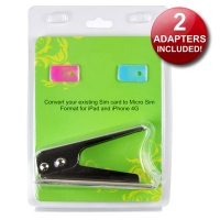 microSIM Cutter for iPhone 4 / 4S / iPad 3G / 4G / Galaxy S3 i9300 [Includes 2 Adapters] - Cut accurately and safely a normal SIM card to the new microSIM format for iPhone 4, iPhone 4S, iPad 3G, iPad 2 3G, New iPad 4G or Samsung Galaxy S3 i9300. Valid for any cell phone, USB modem or device, even if your carrier does not have available specific data plans for iPads, iPhone 4 / 4S or Samsung Galaxy S3 i9300. Blister packaging that includes 2 adapters to convert microSIM to standard SIM cards!