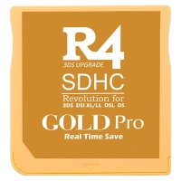 R4 SDHC Gold Pro 2017 for 2DS, New 3DS / XL & DSi - Multimedia flash cart for Nintendo 2DS, New 3DS, New 3DS XL, 3DS, 3DS XL consoles even with firmware v11.2.0-35E. It also works with the classic DS, DS Lite, DSi and DSi XL with 1.4.5E. We ship from Spain by 24 hours express courrier service.