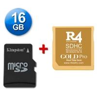 R4 SDHC Gold Pro 2017 + microSD 16 Gb + Juegos Instalados - Cartucho multimedia para consolas Nintendo 2DS, New 3DS, New 3DS XL, 3DS, 3DS XL incluso con firmware v11.4.0-37E. Se incluye una tarjeta microSD de 16 Gb con Juegos Instalados y probada con su cartucho multimedia. También funciona con las clásicas DS, DS Lite, DSi y DSi XL con v1.4.5E. Enviamos desde España por agencia 24 horas.