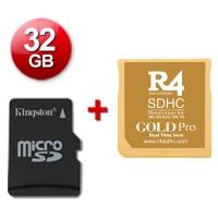 R4 SDHC Gold Pro 2017 + microSD 32 Gb + Juegos Instalados - Cartucho multimedia para consolas Nintendo 2DS, New 3DS, New 3DS XL, 3DS, 3DS XL incluso con firmware v11.4.0-37E. Se incluye una tarjeta microSD de 32 Gb con Juegos Instalados y probada con su cartucho multimedia. También funciona con las clásicas DS, DS Lite, DSi y DSi XL con v1.4.5E. Enviamos desde España por agencia 24 horas.
