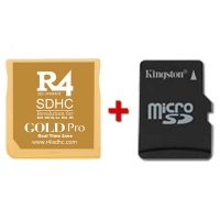R4 SDHC Gold Pro 2017 with microSD card to choose - Multimedia flash cart for Nintendo 2DS, New 3DS, New 3DS XL, 3DS, 3DS XL consoles even with firmware v11.2.0-35E. It also works with the classic DS, DS Lite, DSi and DSi XL with 1.4.5E. Choose the microSD card size you prefer in the below drop-down menu and we will send it tested with your multimedia flash cart. We ship from Spain by 24 hours express courrier service.