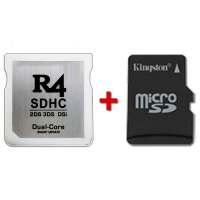 R4 SDHC Dual Core 2016 with microSD card to choose - Multimedia flash cart for Nintendo 2DS, New 3DS, New 3DS XL, 3DS, 3DS XL consoles even with firmware v11.2.0-35. It also works with the classic DS, DS Lite, DSi and DSi XL. Its the latest launchment from the creators of the famous R4i Gold Pro. Choose the microSD card size you prefer in the below drop-down menu and we will send it tested with your multimedia flash cart. We ship from Spain by 24 hours express courrier service.