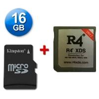 R4 XDS Caja Negra 2017 + microSD 16 Gb + Juegos Instalados - Cartucho multimedia para consolas Nintendo 2DS, New 3DS, New 3DS XL, 3DS, 3DS XL incluso con firmware v11.2.0-35E. Se incluye una tarjeta microSD de 16 Gb con Juegos Instalados y probada con su cartucho multimedia. También funciona con las clásicas DS, DS Lite, DSi y DSi XL con v1.4.5E. Enviamos desde España por agencia 24 horas.