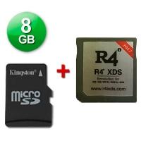 R4 XDS Caja Negra 2017 + microSD 8 Gb + Juegos Instalados - Cartucho multimedia para consolas Nintendo 2DS, New 3DS, New 3DS XL, 3DS, 3DS XL incluso con firmware v11.2.0-35E. Se incluye una tarjeta microSD de 8 Gb con Juegos Instalados y probada con su cartucho multimedia. También funciona con las clásicas DS, DS Lite, DSi y DSi XL con v1.4.5E. Enviamos desde España por agencia 24 horas.