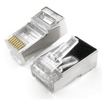 RJ45 Connector Crimp Shielded End Plug (8 pin) -