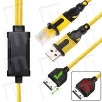 Cable Dual Samsung E210 / J750 RJ45+USB [Conector EXTRA LARGO] -
