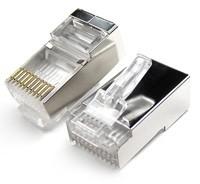 RJ48 Connector Crimp Shielded End Plug (10 pin) -