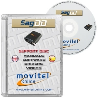 SagemDD Box Support Disc with Manuals, Software and Videos - Disc entirely developed by our technical department with detailed instructions and complete manuals for the installation of your product. It also includes all the software and necessary drivers, as well explanatory videos of real procedures!