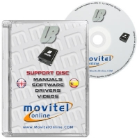 Universal Box Support Disc with Manuals, Software and Videos - Disc entirely developed by our technical department with detailed instructions and complete manuals for the installation of your product. It also includes all the software and necessary drivers, as well explanatory videos of real procedures!