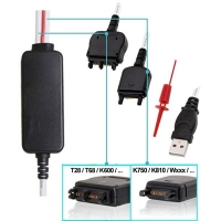 USB FTDI 2 in 1 Cable Set for 4SE Dongle - USB FTDI Cable Kit for 4SE Dongle and Cruiser! Includes two interchangeable heads, one for mobile phones with T68/K600 connector and another for the cell phones with K750 connector type. Are required for A1 SonyEricsson platform (DB2000, DB201x and DB2020). Its use is indicated for unlocking, service, flashing, repairing, reset and read user and security codes, language change, etc ...