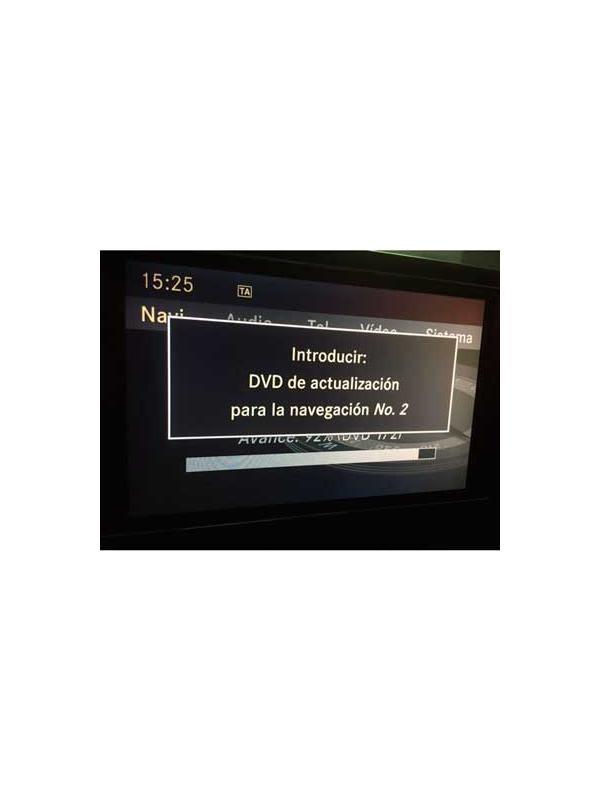 Comand APS NTG4-204 v15 2018 [Juego 2 DVDs Europa] - Última versión disponible de la actualización en DVD de mapas para los navegadores Mercedes Benz Comand APS NTG4-204 para modelos Clase C W204/S204, GLK X204 y SLS C197/SLS R197.