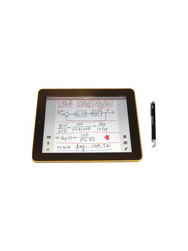 DAGi Stylus P501 iPad / Galaxy Tab [125x10mm] - El DAGi Stylus es un lápiz óptico de precisión y punta transparente diseñado específicamente para las pantallas capacitivas que se encuentran en las pantallas táctiles actuales, incluyendo iPad, iPhone, iPod Touch, Galaxy S i9000 y Galaxy Tab, entre otros modelos de ordenadores, tabletas y teléfonos que disponen de pantalla táctil. Es extremadamente ligero y funciona sin baterías.
