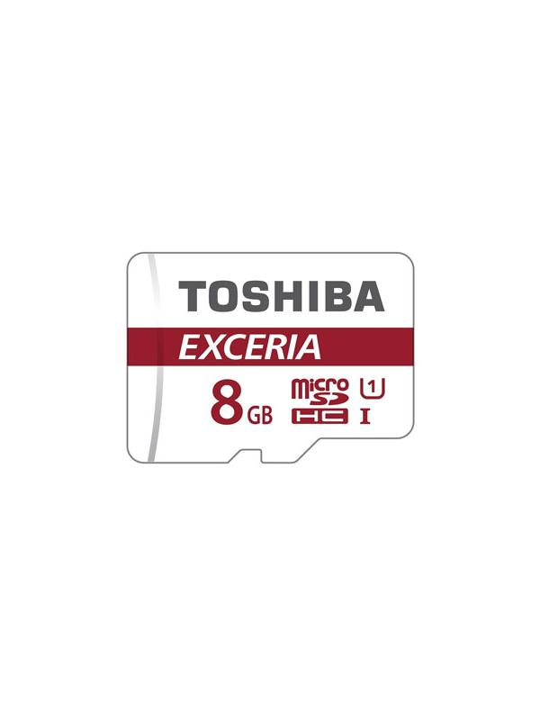 microSDHC 8 GB con Adaptador SD - Tarjeta de memoria microSDHC / microSDXC Toshiba de 8 GB en formato blister y con adaptador SD incluido.